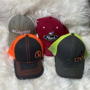 LOT OF 4 • Men's Various Brands Adjustable Hats